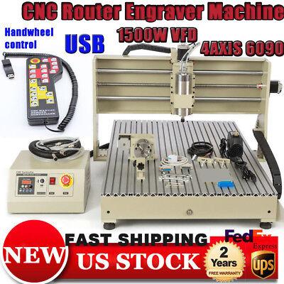 4axis Usb Cnc 6090 Router 1.5kw Vfd Engraver Millingdrilling 3d Machinerc
