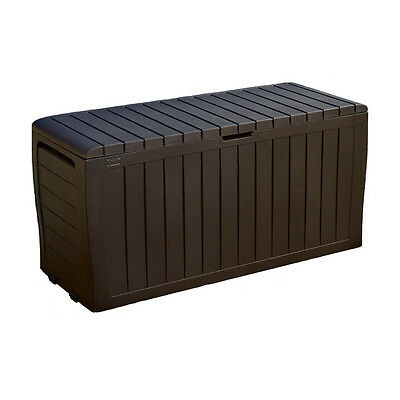 Keter 71 Gallon All-Weather Resin Marvel Plus Garden Storage Deck Box | 230623
