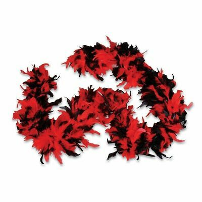Black and Red Turkey Feather Boa 55GM 6 ft 72
