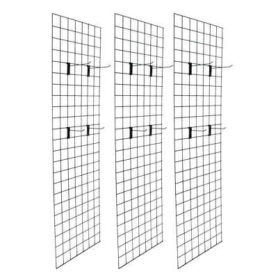 Display Grid Rack 2 X 6 Panel Metal Stand Retail Store Craft Shelf Organizer