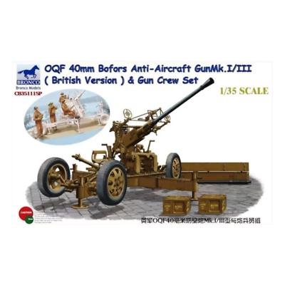 Bronco 1//35 35111SP British OQF 40mm Bofors Anti-Aircraft Gun/&Gun Crew