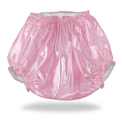 Pearly Pink Plastic Pants Adult Baby Diapers & Nappy AB/DL &