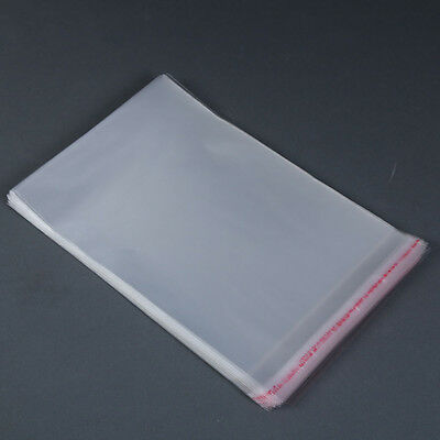 Unsealed Self Adhesive Peel Seal Bags Plastic Opp Clear Cellophane Pack