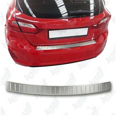 Ford Fiesta MK VII HB 2017Up Chrome Rear Bumper Protector Scratch Guard S.Steel