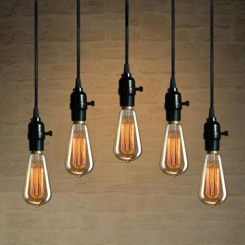 Industrial Pendant Lamp E26 E27 Edison Bulb Socket Hanging