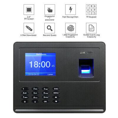 Lcd Usb Fingerprint Attendance System Time Clock Employee Checking-in Recorder