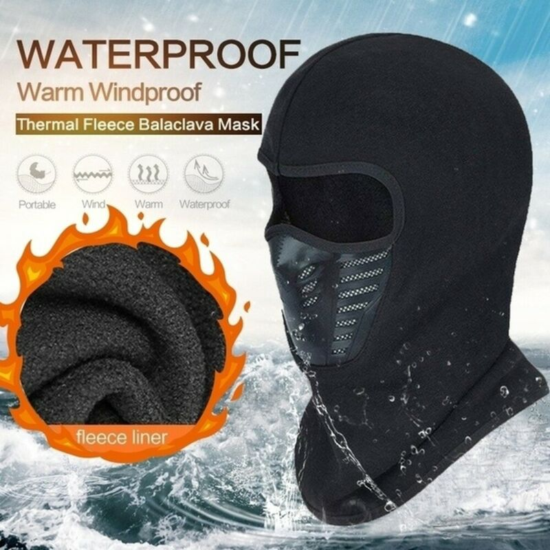 Balaclava Ski Full Face Mask Windproof Fleece Neck Warm for Winter Cold Weather