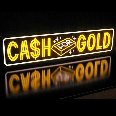 Led Sign Cash For Gold Bar Pawn Shop We Buy Effective Light Box Neon Alternative