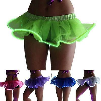Led Tutu Skirt (New Light Up LED El Wire Accessory Dance Tutu Mini Skirt Dancewear Evening)