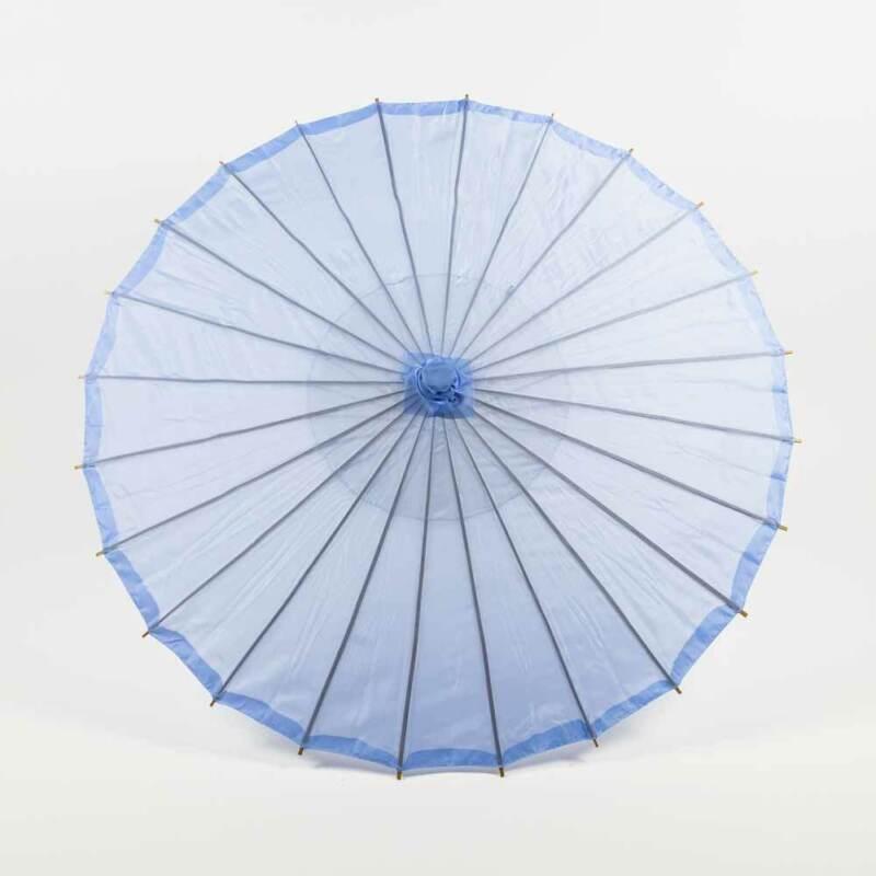 """32"""" Serenity Blue Parasol Umbrella, Premium Nylon"""