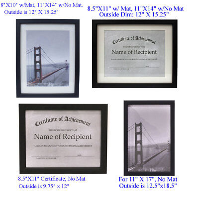 Choice of Different Size Picture Frames, Diploma/Certificate Document (Diploma Certificate Frames)
