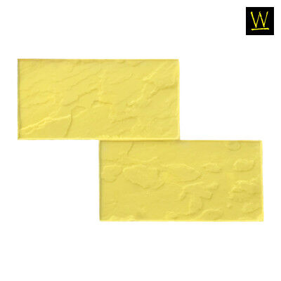 Grand Running Bond Slate Concrete Stamp By Walttools - Yellow Single Rigid