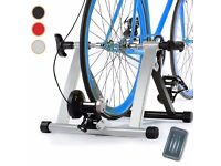 Magnetic Resistance Turbo Trainer For Bike with Front Wheel Block and free treadless tyre