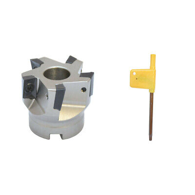2x34 90 Degree Indexable Face Mill Cutter Use Apmt Apkt Cnc Machining Inserts