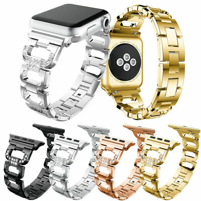 Lady Bling Steel Watch Band Strap for Apple Watch iWatch 38/42mm Series 1 2 (Band Bling Watch)