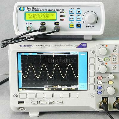 New Digital DDS Dual-channel Signal Generator Source Frequency Meter 25MHz KC4W