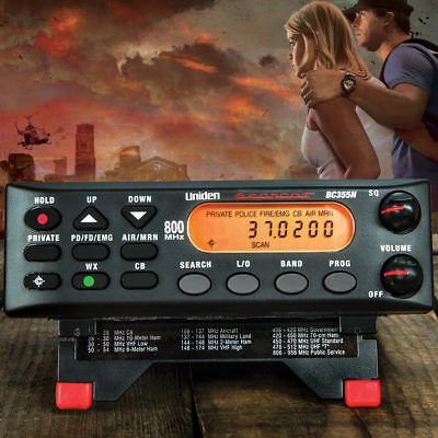 Uniden BC355N 800 MHz 300-Channel Base Mobile Police Scanner