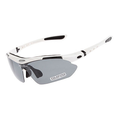 49a095829f RockBros Cycling Polarized Sunglasses Bike Goggles Ride Hike Glasses White  UV400