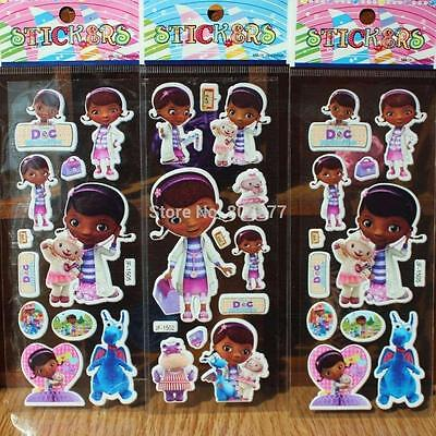 10 x DOC MCSTUFFIN Sticker strips Party Bag Fillers Birthday favours, games  (Doc Mcstuffin Party Supplies)