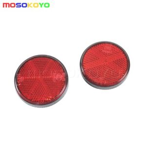 PMMA Round Red Reflector Universal For Motorcycle ATV Dirt Bike Truck Car Bus