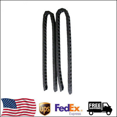 """2Pcs 1 Meter(40"""") Black Cable Drag Chain Wire Carrier R28 10x20mm For 3D Printer"""