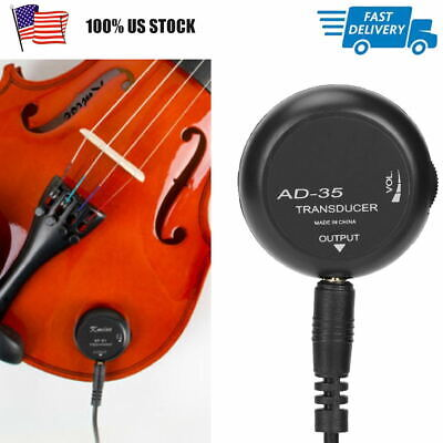 Professional Mini Piezo Contact Microphone Transducer Pickup For Guitar Violin