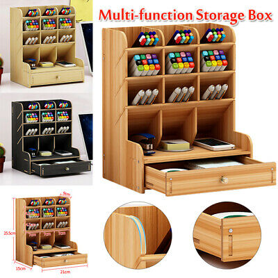 Multifunction Office Desk Organizer Desktop Pen Pencil Storage Holder Container