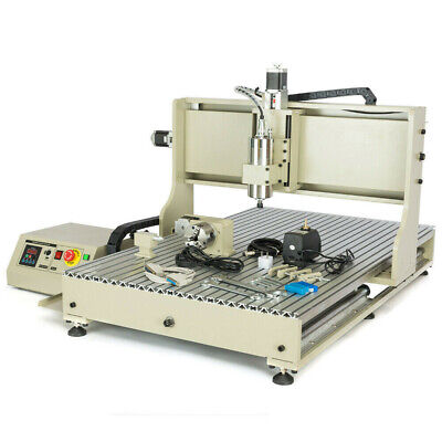 1500w 4 Axis 6090 Cnc Router Engraver Wood Engraving Milling Drilling Machine