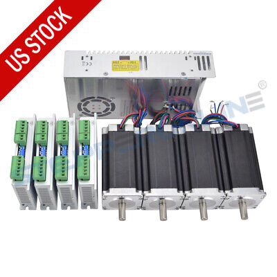 4 Axis Cnc Kit 425oz.in Nema 23 Stepper Motor Stepper Driver Power Supply