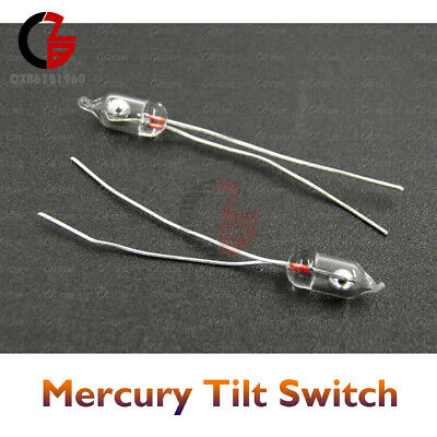 10pcs 3mm Mercury Tilt Switch 20v 1a For Alarm Car Motion Position Angle