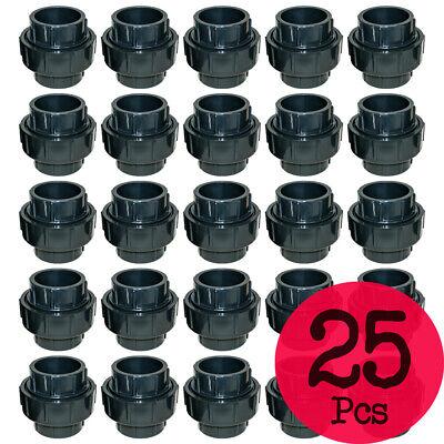 Lot Of 25 Pcs. Sch 80 Pvc 1 Inch Union Socket Connect