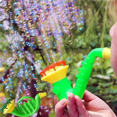 Water Blowing Toys Bubble Soap Bubble Blower Outdoor Kids Child Toy Random Color (Colored Bubbles)