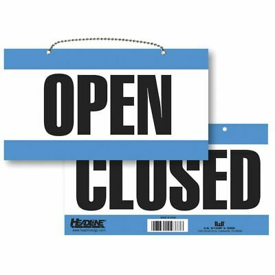 Open Closed Sign With Hanging Chain Large 11 X 6 W X H