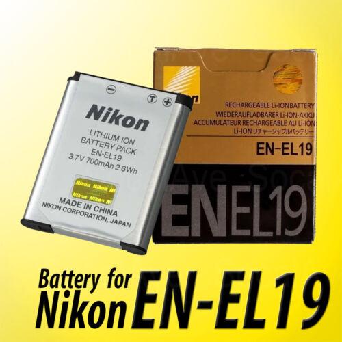 New OEM Lithium-ion battery Nikon EN-EL19 3.7v 700mAh 2.6wh for CoolPix S4300