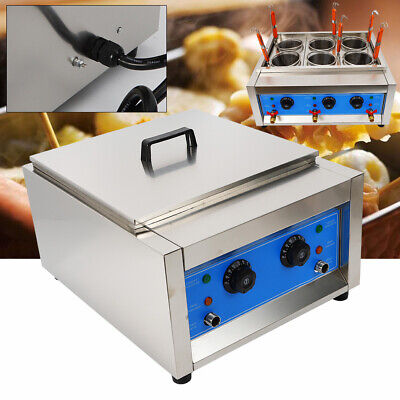 Commercial Electric Noodle Cooking Machine Pasta Cooker 6 Hole Noodle Boiler 6kw