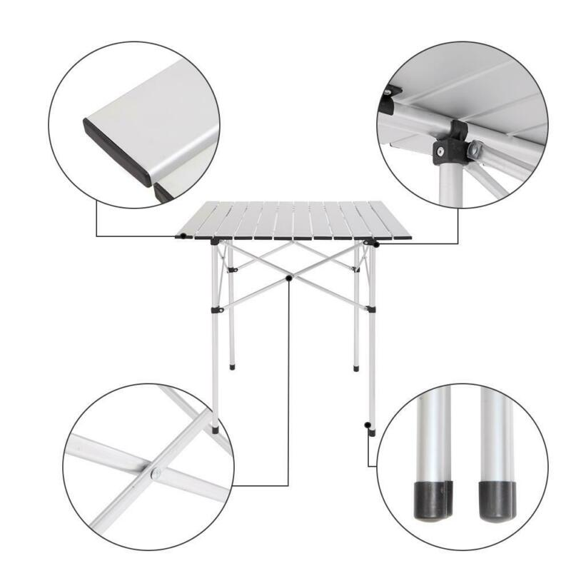 Aluminum Folding Portable Camping Picnic Table Outdoor Patio Furniture Dinner