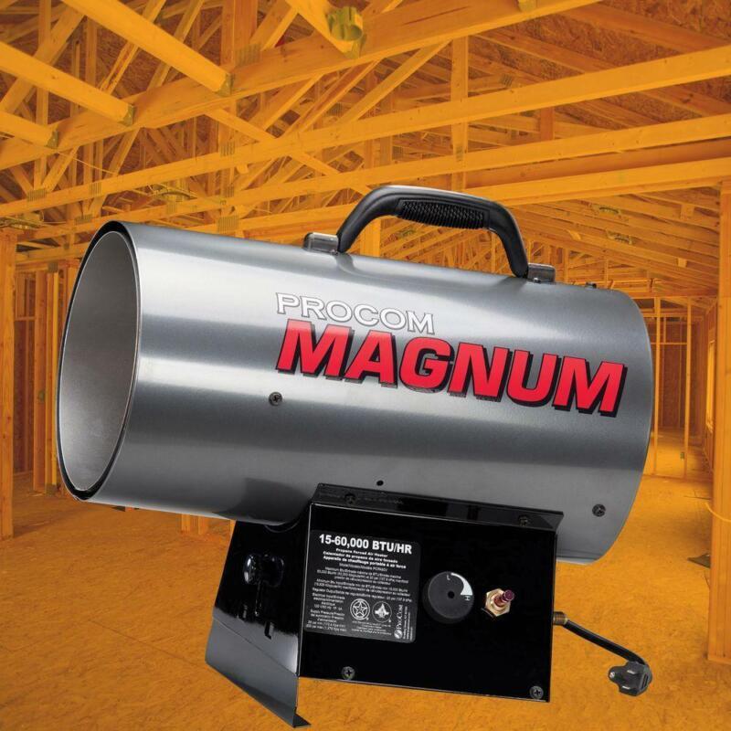 Portable Forced Air Heater Liquid Propane 60,000 BTU Outdoor