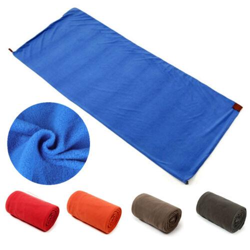 Portable Lightweight Fleece Sleeping Bag Liner Blanket for A