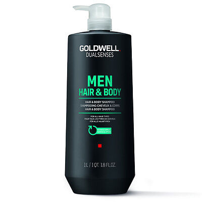 (17,79€/L) Goldwell Dualsenses Men Hair & Body Shampoo Duschgel Männer 2in1 1L
