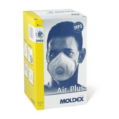 5x (1 Box) Moldex 3405 Air Plus FFP3 R D Atemschutzmaske Mundschutz