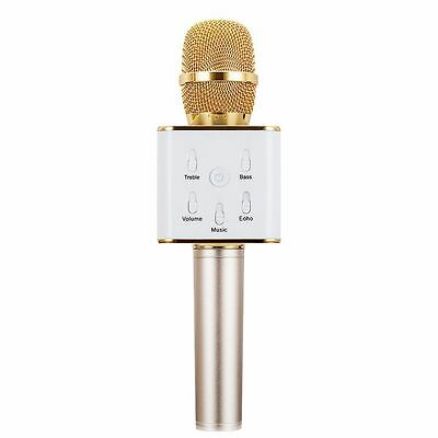 Q7 Wireless Karaoke Microphone KTV Bluetooth USB Player Mic Speaker for Phones