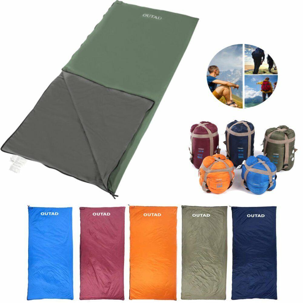 Ultralight Single Camping Envelope Sleeping Bag Liner Hostel Travel Inner D5G0
