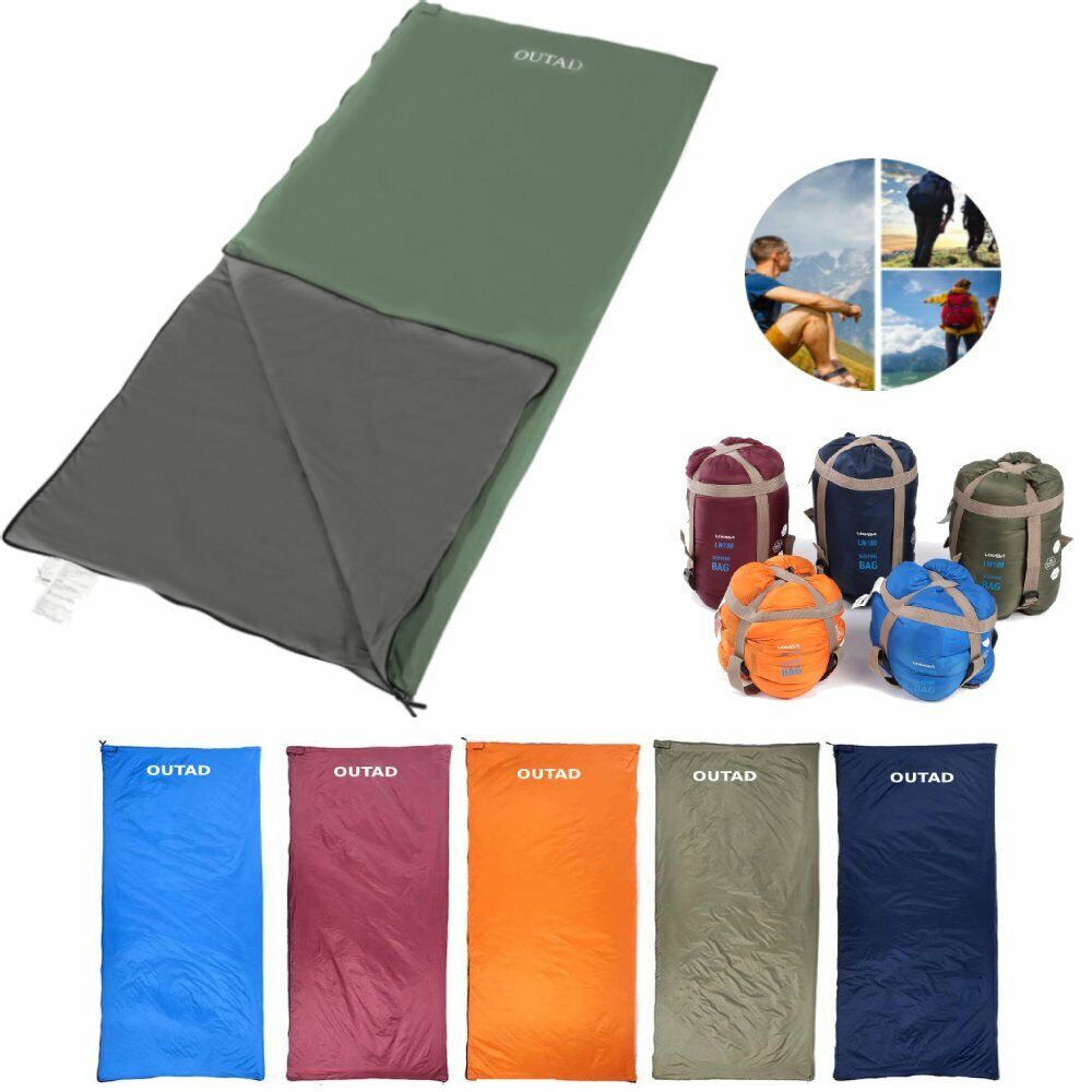 Lightweight Sleeping Bag Camping Backpacking Compact Travel Hiking Outdoor US SS