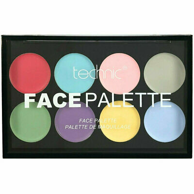 Technic Pastel Face Paint Palette - Baby Pale Colours Bright Body Halloween Eyes - Pale Face Halloween