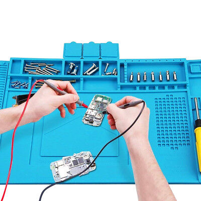 Soldering Repair Work Pad Mat Heat Insulation Silicone Desk Maintenance Platform