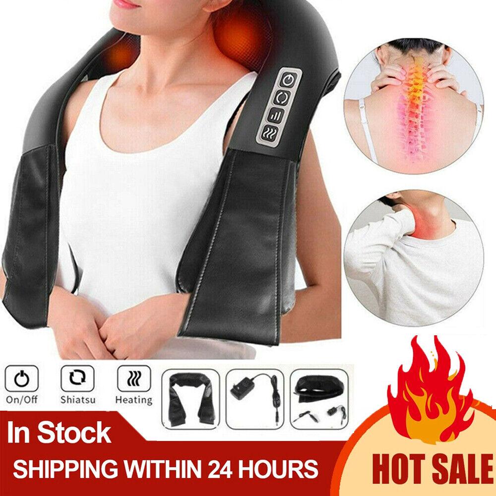 Elektrische Massagegerät Shiatsu Nacken Schulter Rücken Heiz Nackenmassagegerät