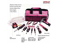 Apollo 23 Piece Pink Home Tool Kit