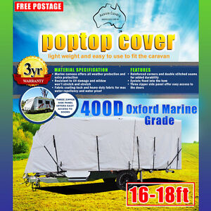 Heavy Duty 16'-18' 400D Oxford Marine Grade Polyester POP TOP Cover