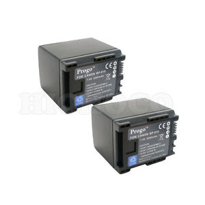 2 (Two) Decoded Intelligent Replacement Battery for CANON BP-807 BP-809 BP-819