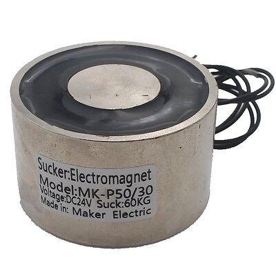60kg 88lb Dc24v 11w Electric Lifting Magnet Holding Electromagnet Solenoid